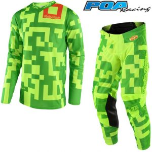 2018 Troy Lee GP Maze Kit Combo Flo Yellow/Green