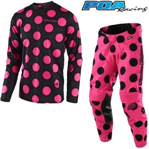 2018 Troy Lee GP Polka Dot Kit Combo Black/Flo Pink