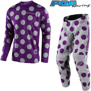 2018 Troy Lee GP Polka Dot Kit Combo Purple/Grey