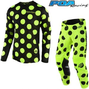 2018 Troy Lee GP Air Polka Dot Kit Combo Black/Flo Yellow
