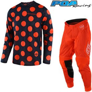 2018 Troy Lee YOUTH GP Air Polka Dot Kit Combo Navy/Orange