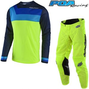 2018 Troy Lee YOUTH GP Air Prisma Kit Combo Flo Yellow