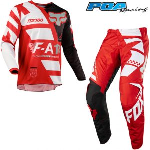 2018 Fox 180 YOUTH Sayak Kit Combo Red