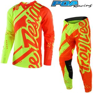 2018 Troy Lee YOUTH GP Shadow Kit Combo Flo Yellow/Orange
