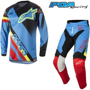 2018 Alpinestars Racer Supermatic Kit Combo Aqua/Black/Red