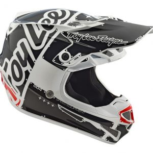 2018 Troy Lee YOUTH SE4 Factory Helmet White