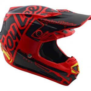 2018 Troy Lee YOUTH SE4 Factory Helmet Red
