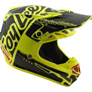 2018 Troy Lee YOUTH SE4 Factory Helmet Yellow