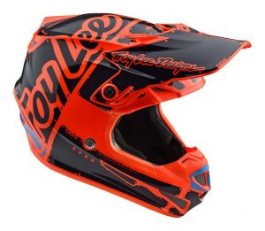 2018 Troy Lee YOUTH SE4 Factory Helmet Orange