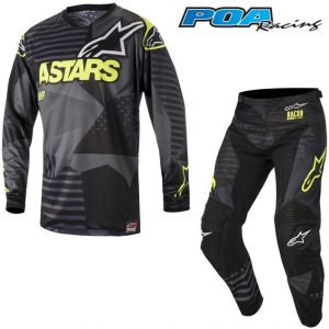 2018 Alpinestars Racer Tactical Kit Combo Black/Yellow Flo