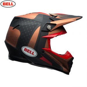 2018 Bell Moto-9 Carbon Flex Vice Helmet Copper/Black