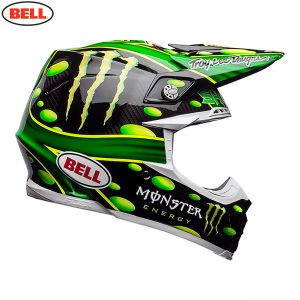 2018 Bell Moto-9 Carbon Flex McGrath Monster Helmet Black/Green
