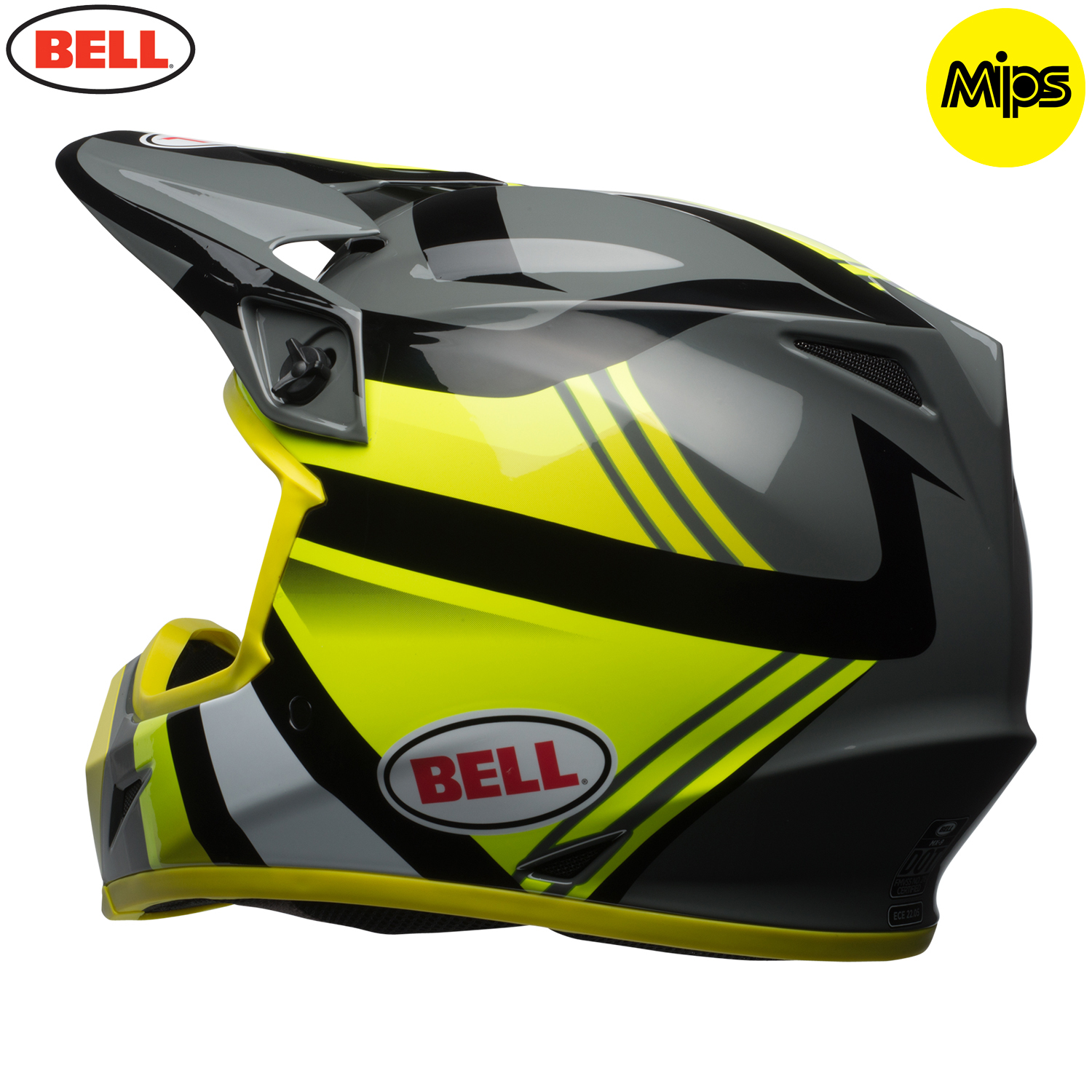 2018 bell mx 9 mips helmet marauder hi viz yellow black. Black Bedroom Furniture Sets. Home Design Ideas