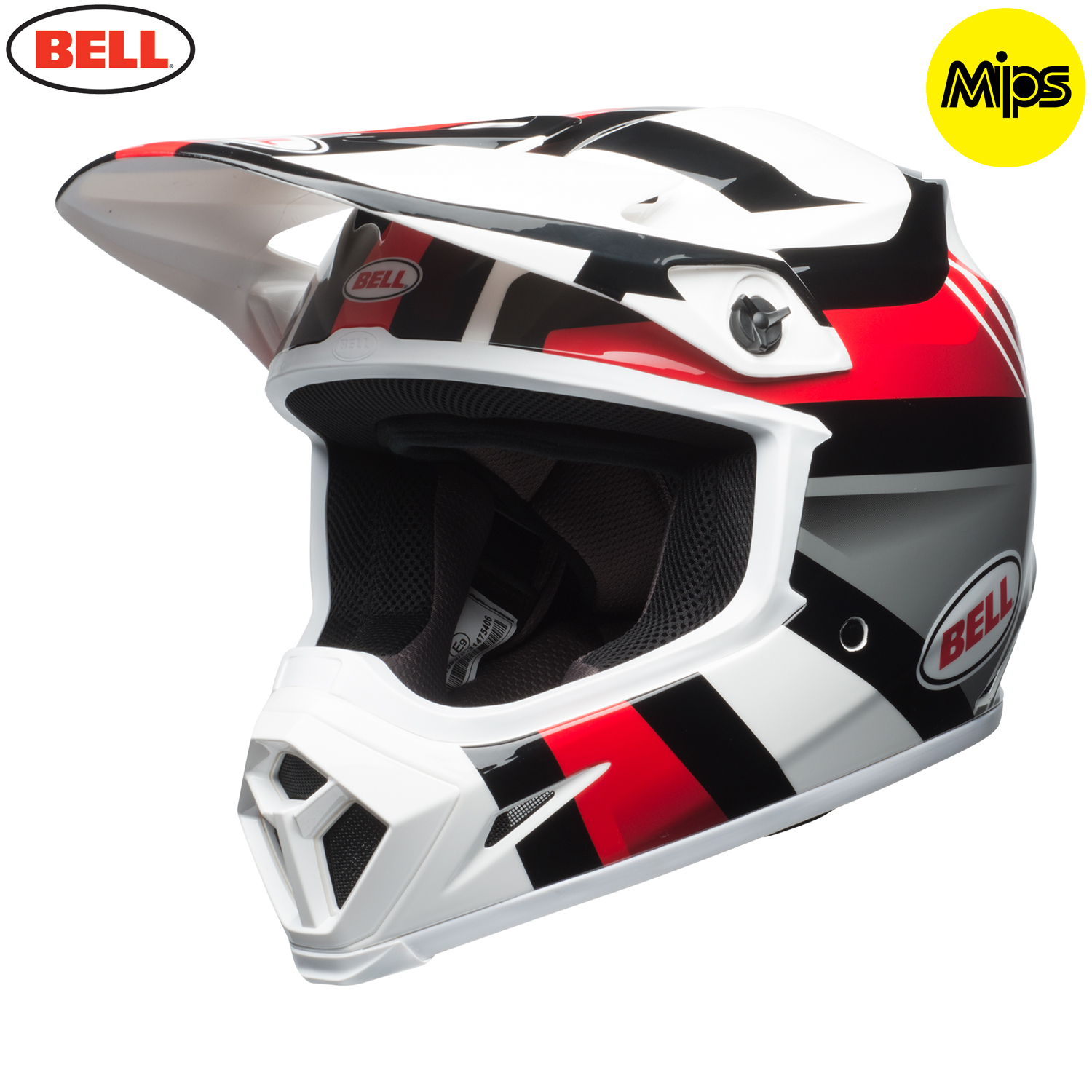 2018 bell mx 9 mips helmet marauder white black red. Black Bedroom Furniture Sets. Home Design Ideas
