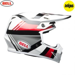 2018 Bell MX-9 Mips Helmet Marauder White/Black/Red