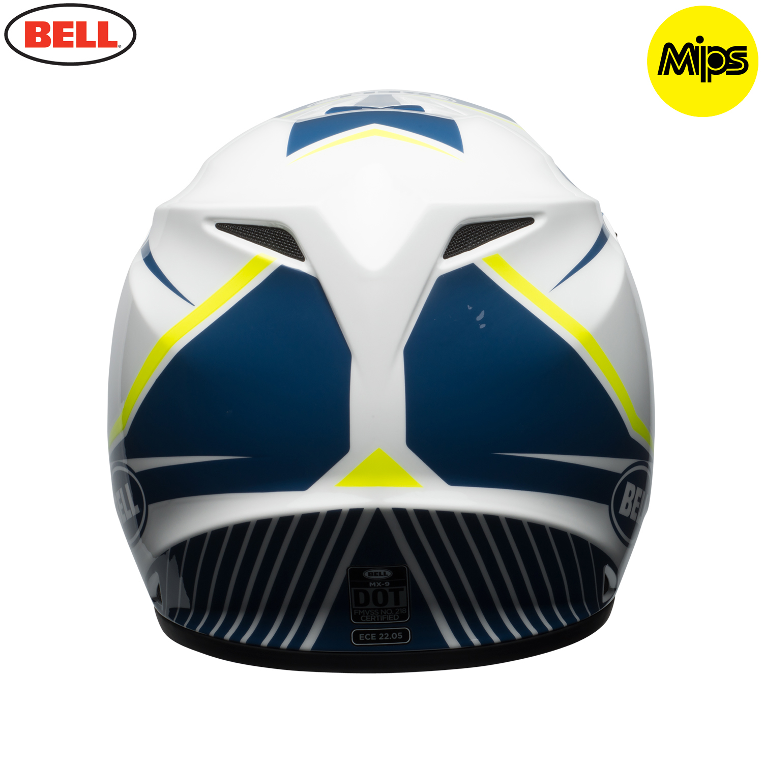 2018 bell mx 9 mips helmet torch white blue yellow. Black Bedroom Furniture Sets. Home Design Ideas