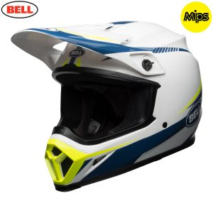 2018 Bell MX-9 Mips Helmet Torch White/Blue/Yellow