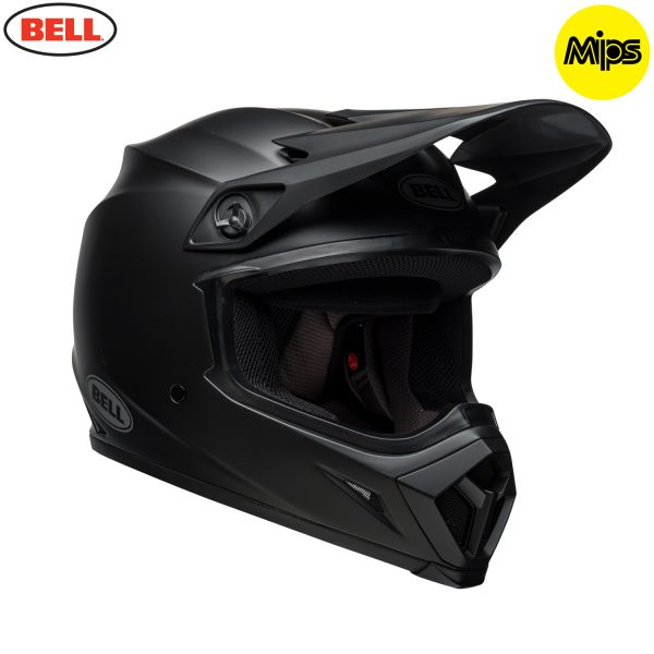 Bell MX-9 Mips Helmet Matte Black - bell mx 9 mips off road helmet matte black fr copy