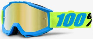 100% Accuri Goggle Belize – Gold Mirror Lens + Clear Lens