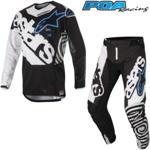 2018 Alpinestars Techstar Venom Kit Combo Black/White/Aqua