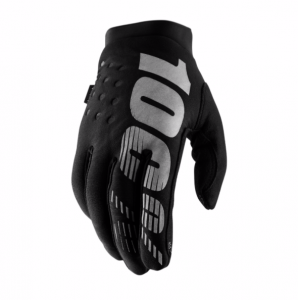 2019 100% Brisker Glove Black/Grey