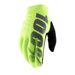 2019 100% Brisker Glove Fluo Yellow