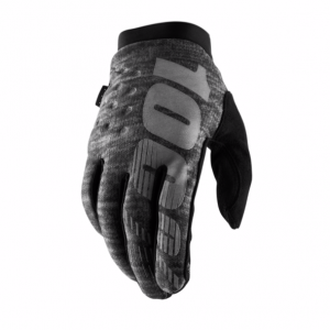 2019 100% Brisker Glove Heather Grey