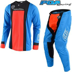 2018 Troy Lee SE Air Squadra Kit Combo Cyan/Orange