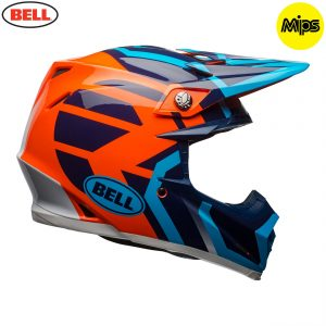 2018 Bell Moto-9 Mips Helmet District Blue/Orange
