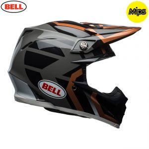 2018 Bell Moto-9 Mips Helmet District Copper/Black/Charcoal