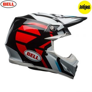 2018 Bell Moto-9 Mips Helmet District Black/Red