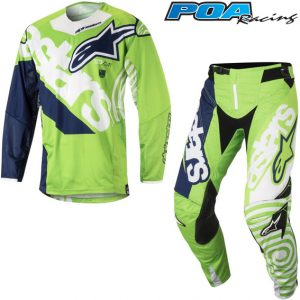 2018 Alpinestars Techstar Venom Kit Combo Green Flo/White/Dark Blue