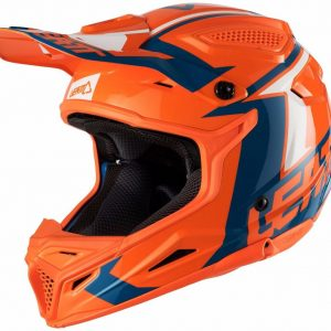 2018 Leatt YOUTH GPX 4.5 V22 Helmet Orange/Denim