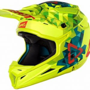 2018 Leatt GPX 4.5 V22 Helmet Lime/Teal