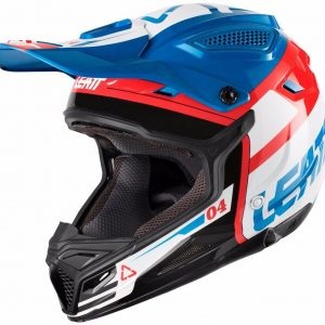 2018 Leatt GPX 4.5 V25 Helmet Blue/White