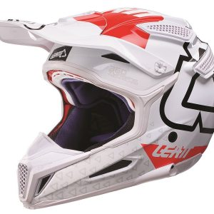 2018 Leatt GPX 5.5 V15 Composite Helmet White/Red