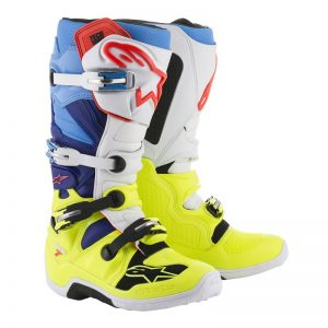 2018 Alpinestars Tech 7 Boot Yellow Flo/White/Blue/Cyan