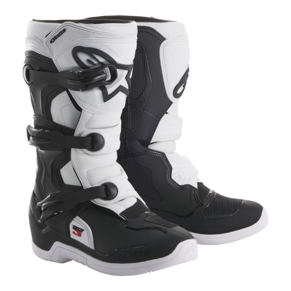 Alpinestars tech 3s youth boot black/white - 2014018 12 d1 tech 3s youth boot