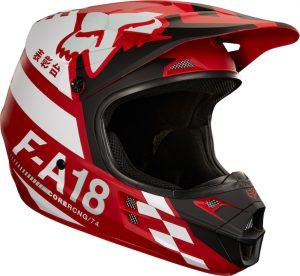 2018 Fox V1 Sayak Helmet Red