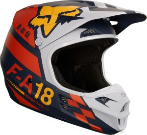 2018 Fox V1 Sayak Helmet Orange