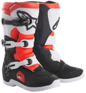 2018 Alpinestars Tech 3s YOUTH Boot Black/White/Red Flo
