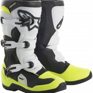 2018 Alpinestars Tech 3s YOUTH Boot Black/White/Yellow Flo