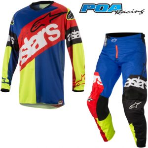 2018 Alpinestars Racer Flagship Kit Combo Red/Yellow Flo/Blue