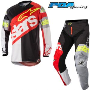 2018 Alpinestars Racer Flagship Kit Combo Red/White/Black