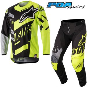 2018 Alpinestars YOUTH Racer Screamer Kit Combo Black/Yellow Flo/Grey