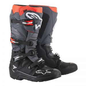 2019 Alpinestars Tech 7 Enduro Boot Black/Grey/Red Fluo