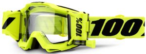 100% Accuri Forecast Goggle Flo Yellow – Clear Lens