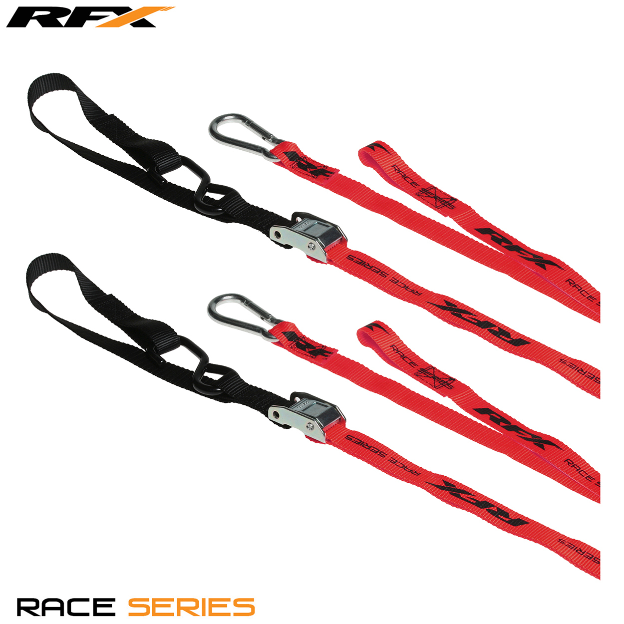 Rfx race series 1. 0 tie downs (red/black) with extra loop & carabiner clip - fxtd 30000 55rd 30577. 1509706331. 1280. 1280
