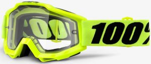 100% Accuri Enduro Goggle Flo Yellow – Clear Lens