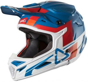 2018 Leatt YOUTH GPX 4.5 V10 Helmet Blue/White
